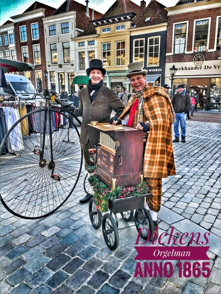 Nostalgisch draaiorgeltje in Dickens Stijl Kerstmuziek Kerstdraaiorgel draaiorgel